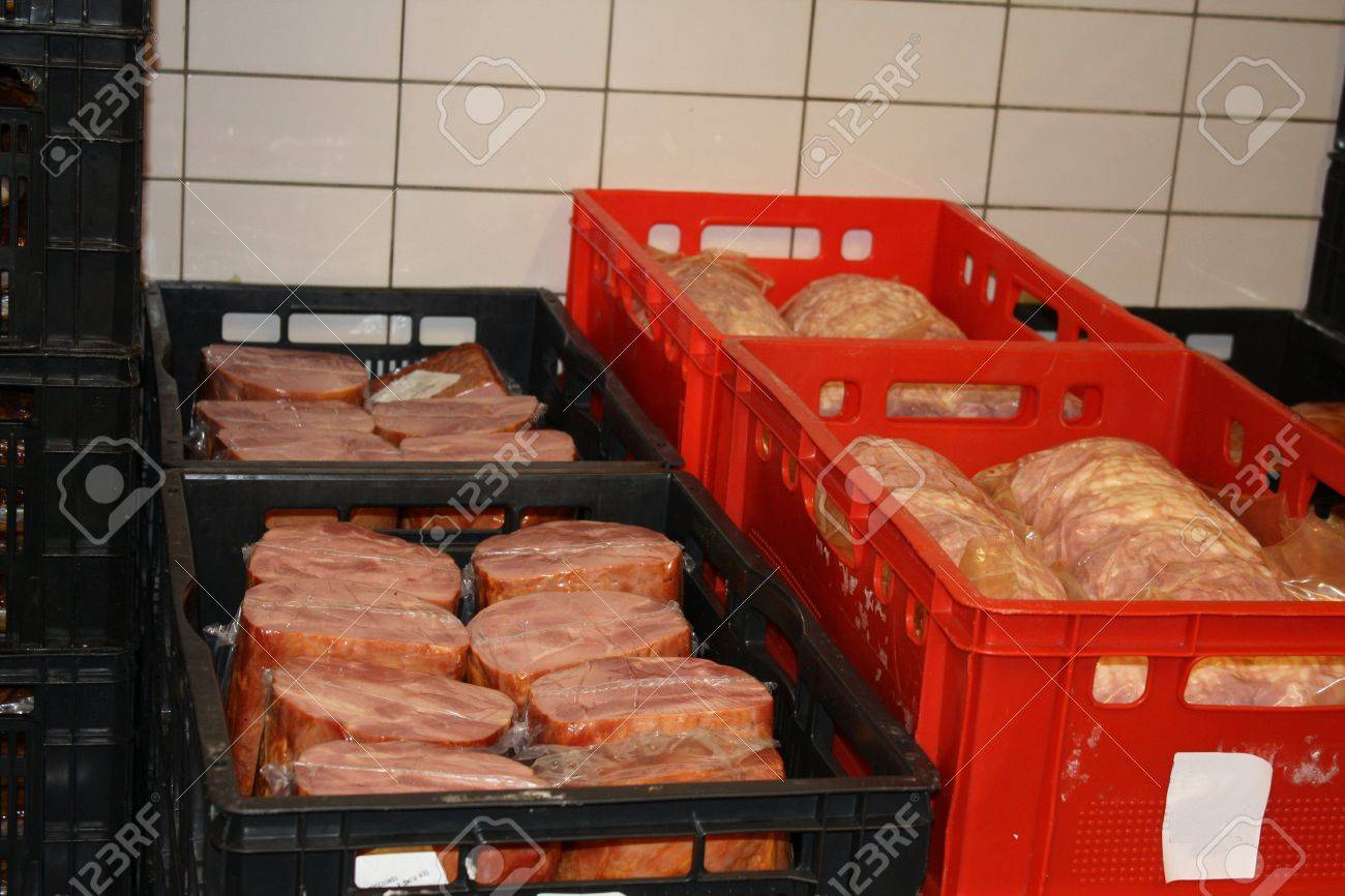 Products in storage in a cold cut factory Stock Photo - 5692701 & Products In Storage In A Cold Cut Factory Stock Photo Picture And ...
