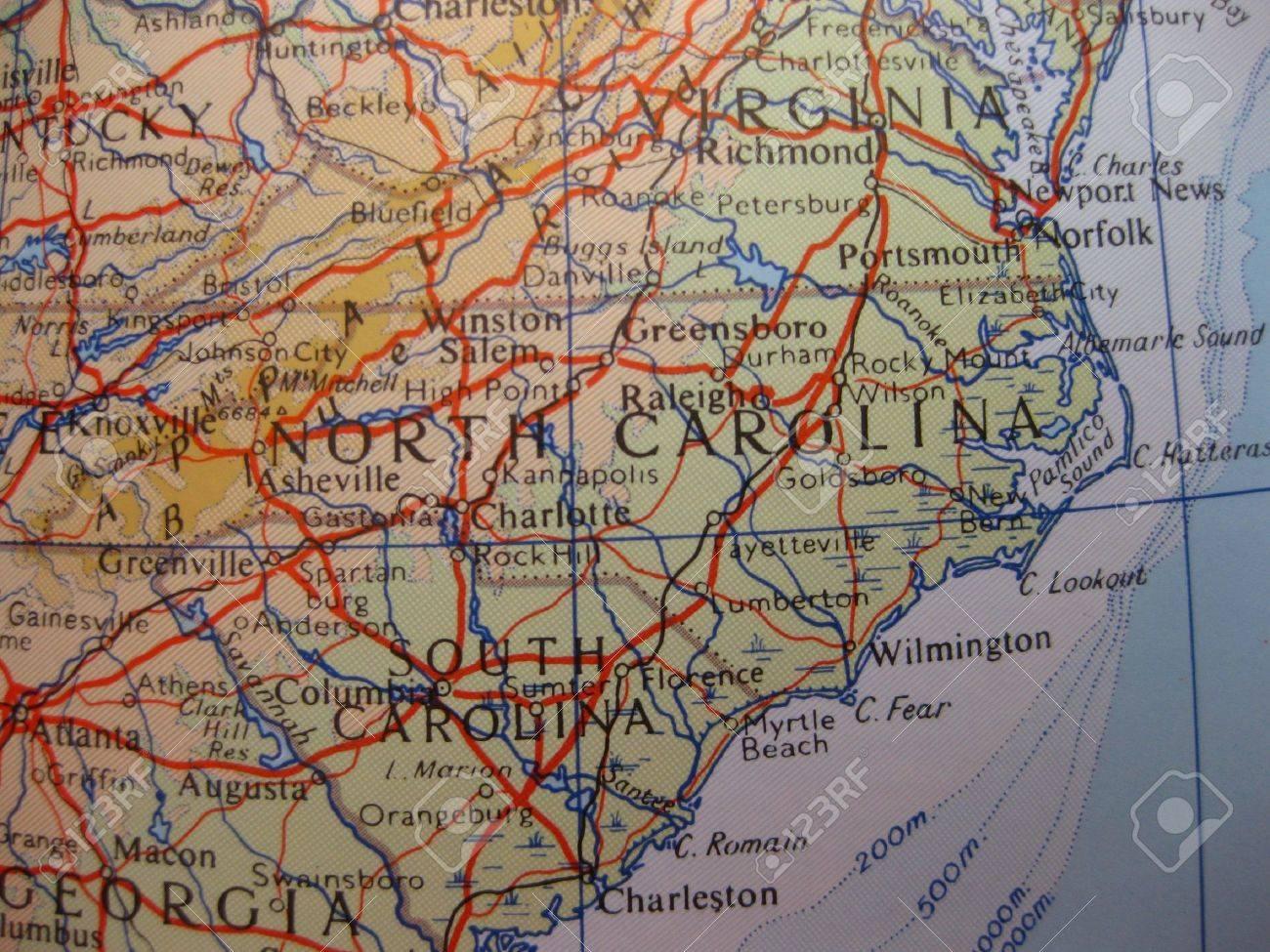 Carolina Del Norte Mapa.Mapa De America Del Norte Y Carolina Del Sur