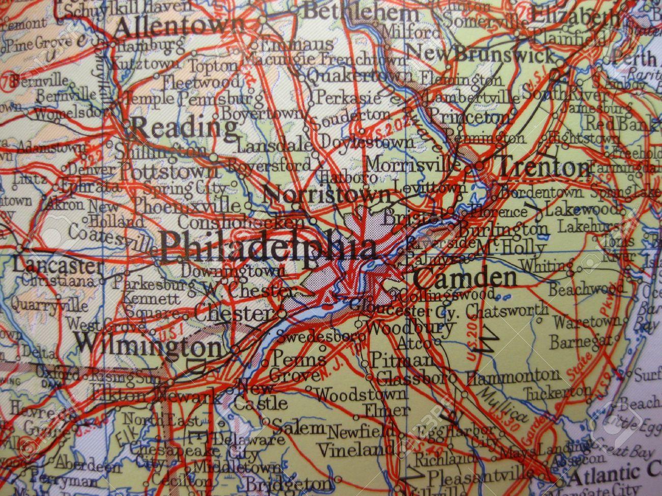 Map of Philadelphia, Pennsylvania