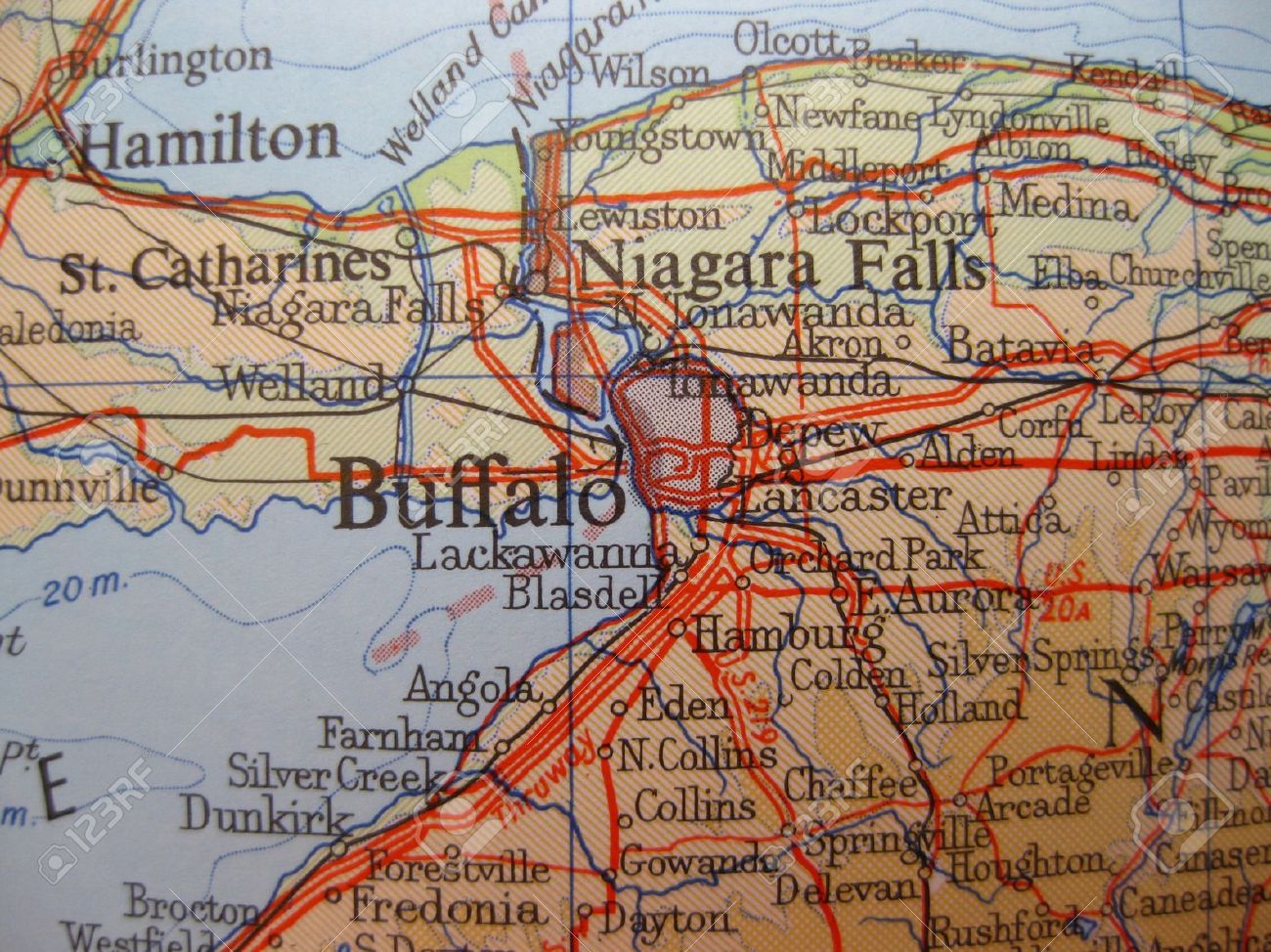 Map Of Buffalo New York Map Of Buffalo, New York Stock Photo, Picture And Royalty Free  Map Of Buffalo New York