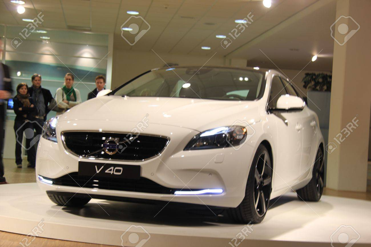 March 31st, Beesd the Netherlands Presentation of new Volvo V40, introduction of latest Volvo model Stock Photo - 13021586