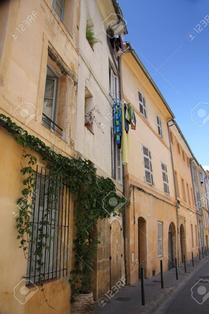 Couleurs Facades En Provence façades crépis dans les couleurs traditionnelles de provence à  aix-en-provence