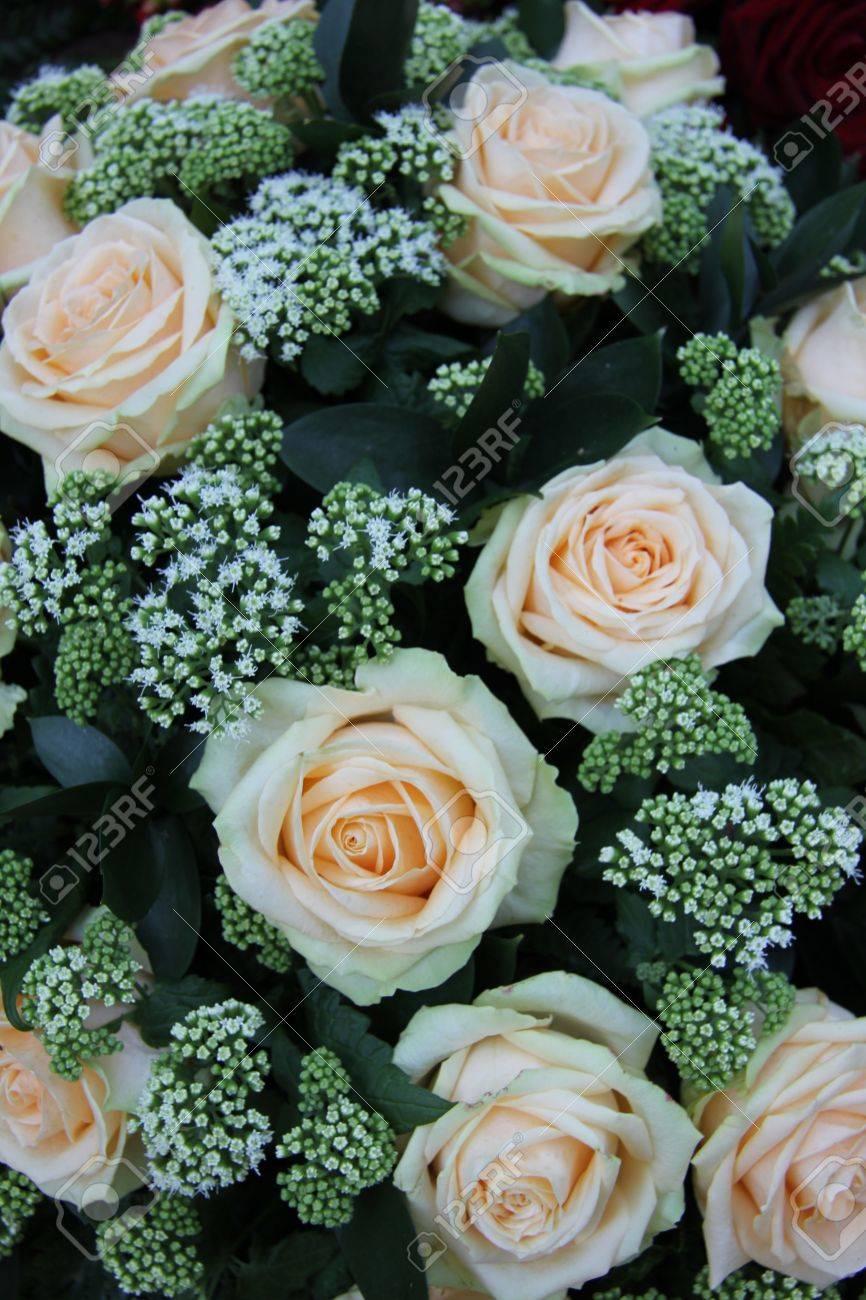 Nupcial Arreglos Florales Con Rosas De Color Rosa Pálido