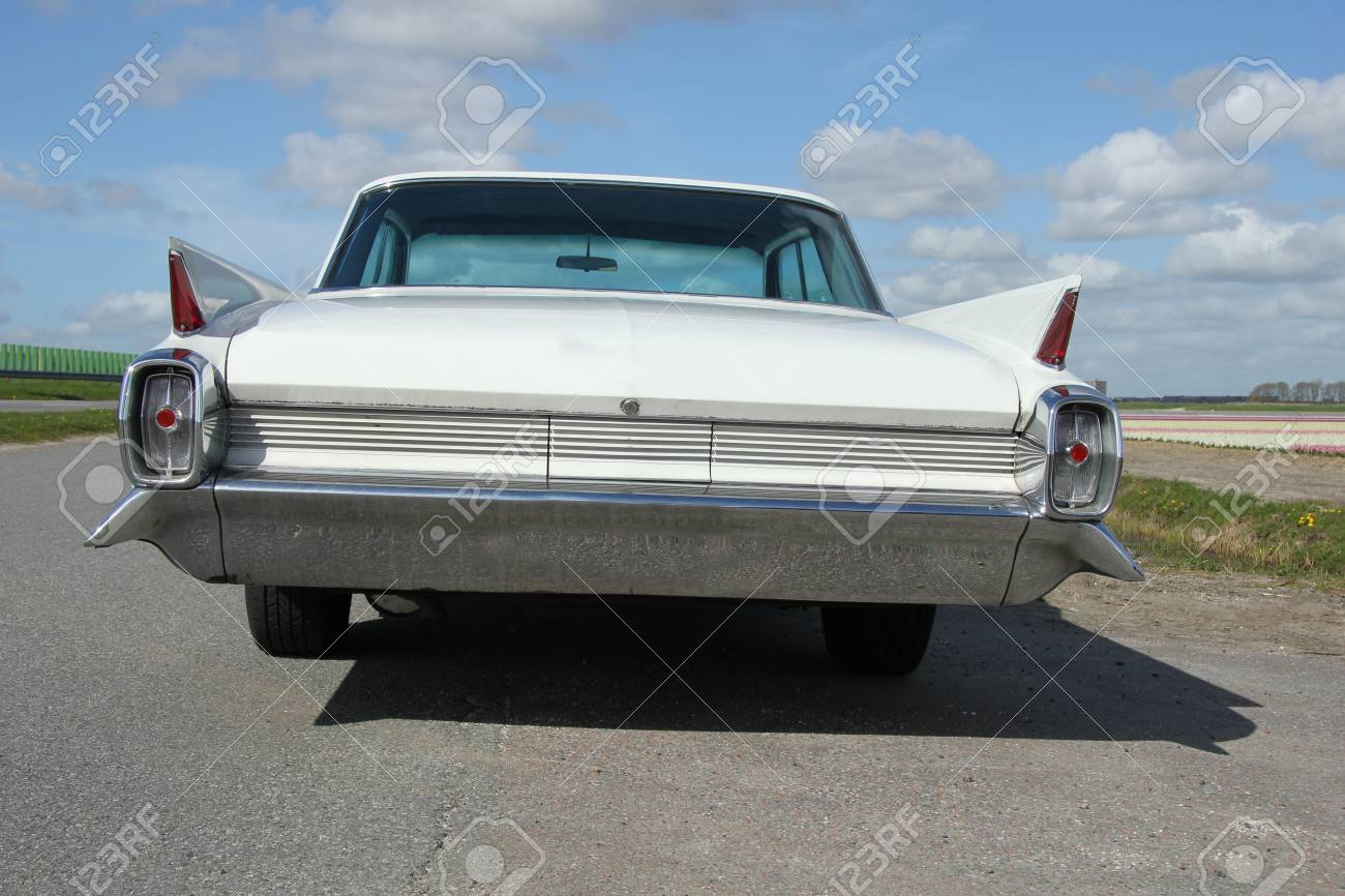 The Back Of A Vintage American Car Stock Photo, Picture And Royalty ...