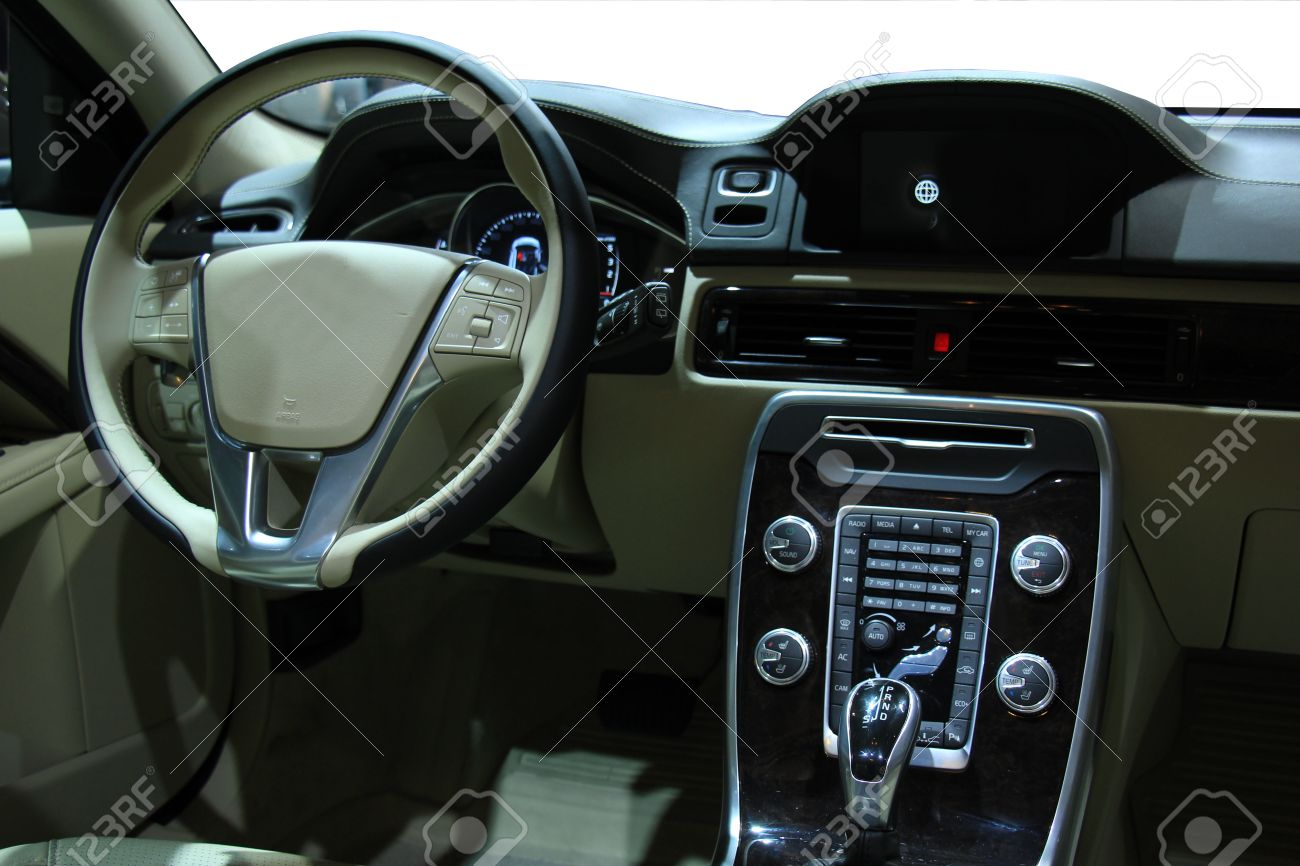 Car interior material - Modern Car Interior Luxurious Materials In Different Shades Of Grey Stock Photo 39328208