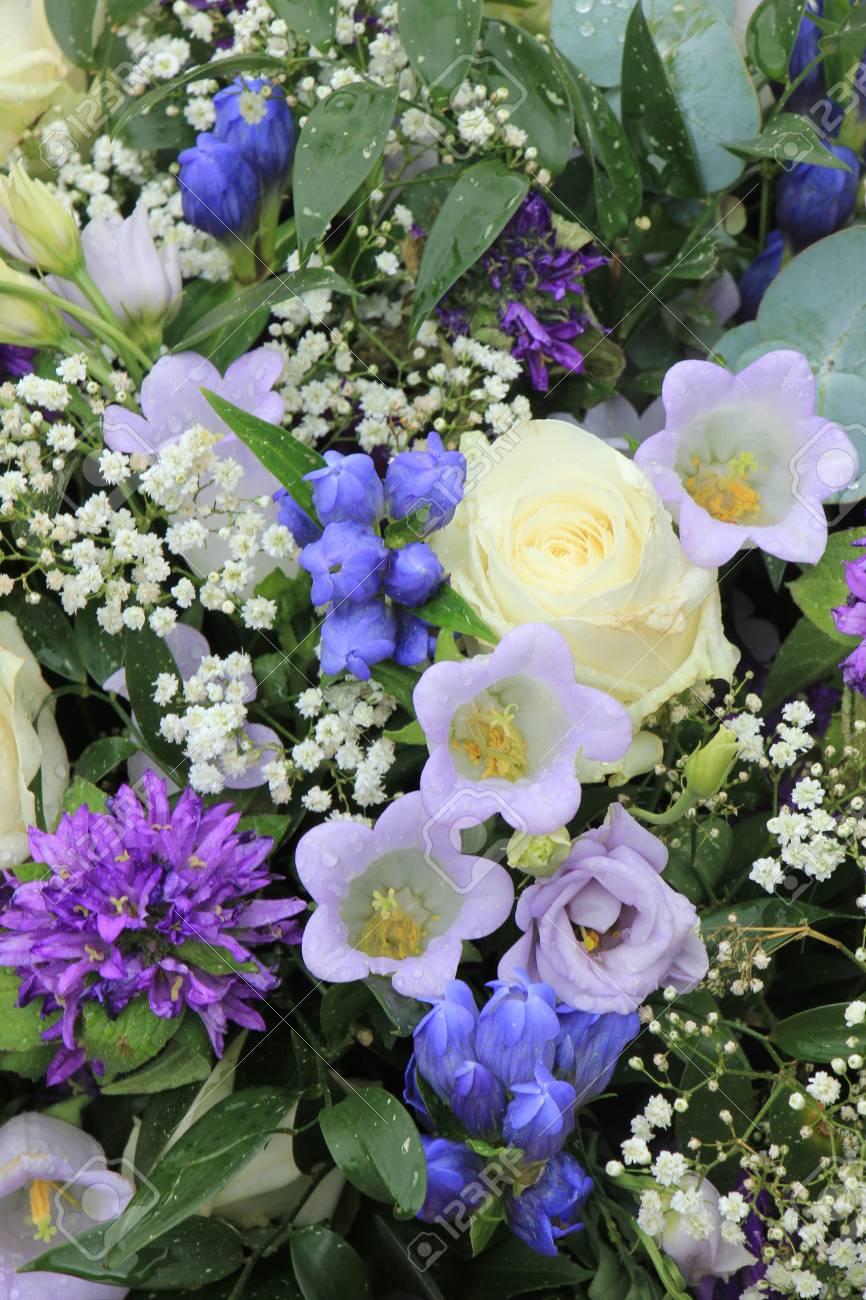 Blue white flower arrangement various flowers in different shades blue white flower arrangement various flowers in different shades of blue for a wedding stock mightylinksfo