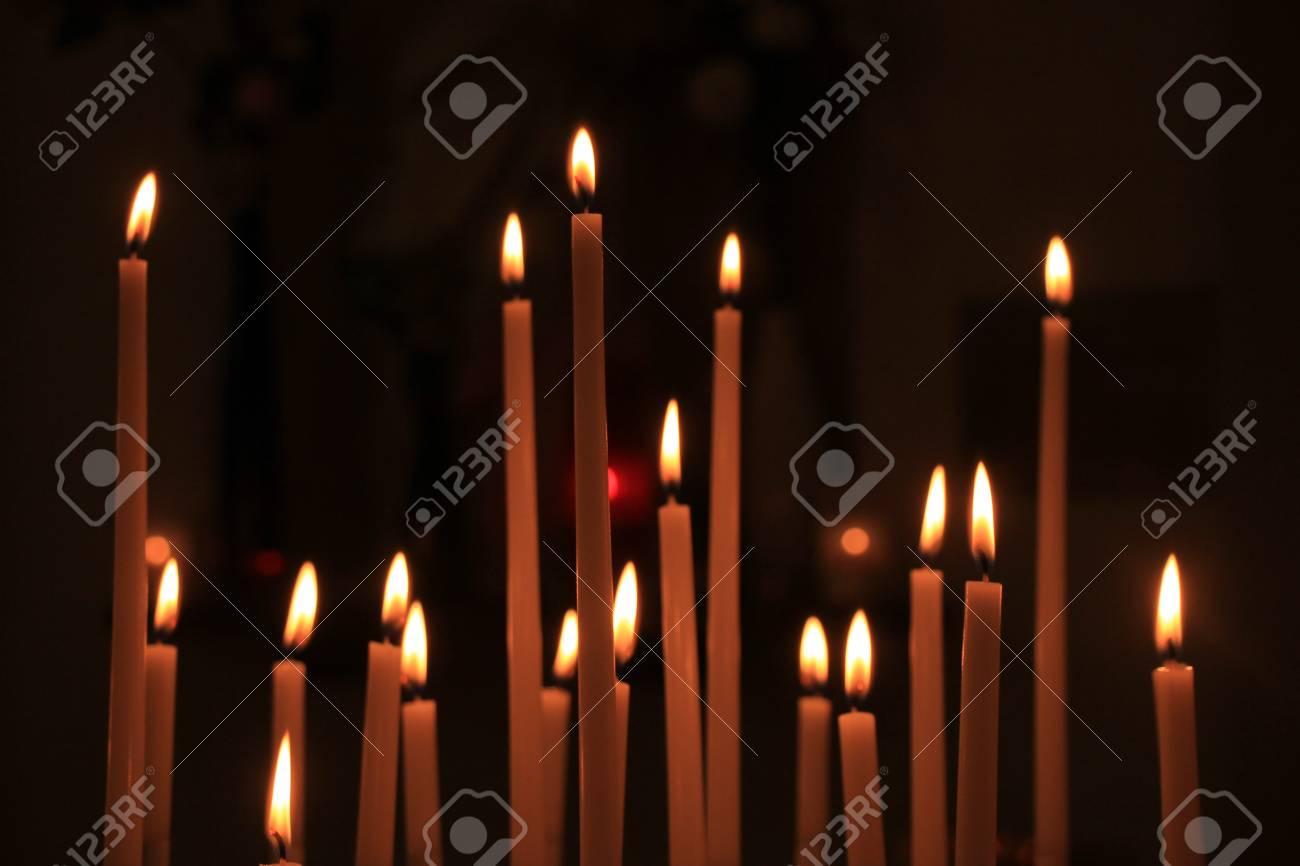 Single Thin Church Candle