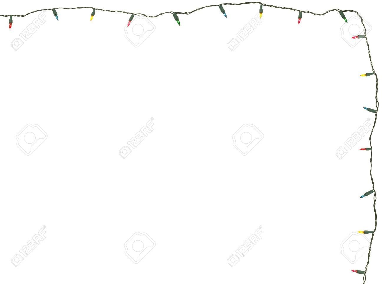 christmas lights isolated on white stock photo 11450153 - Christmas Light String