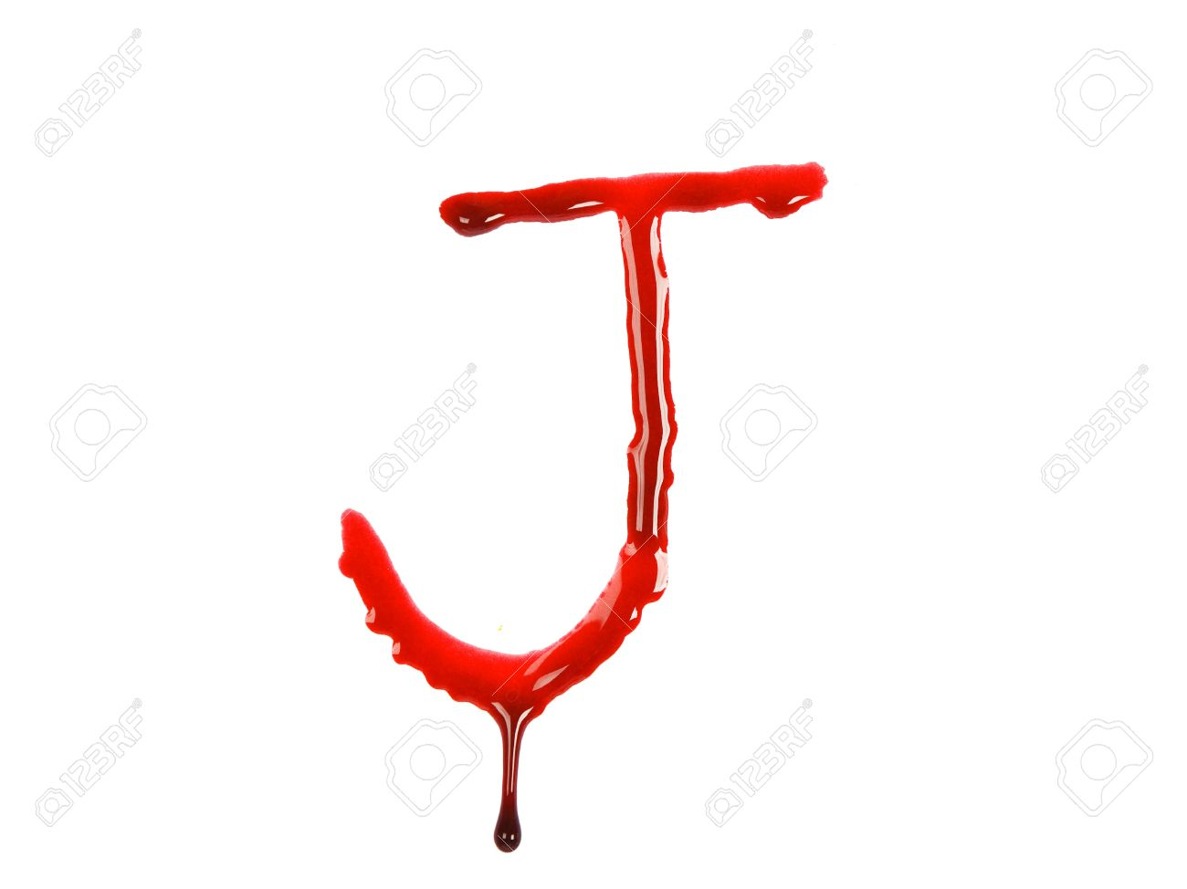 Dripping Blood Fonts The Letter J Stock Picture And Royalty