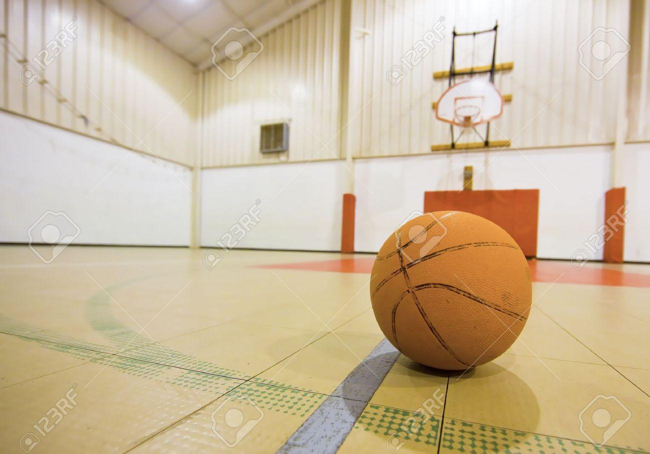Basketball on a basketball Court - 14977357