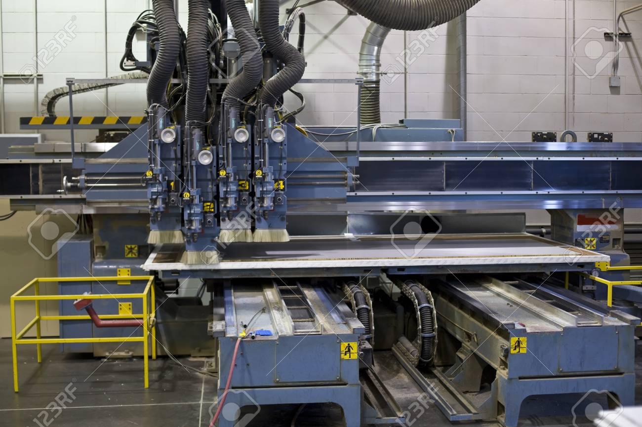 industrial milling machining cutting process of blank Standard-Bild - 15265423