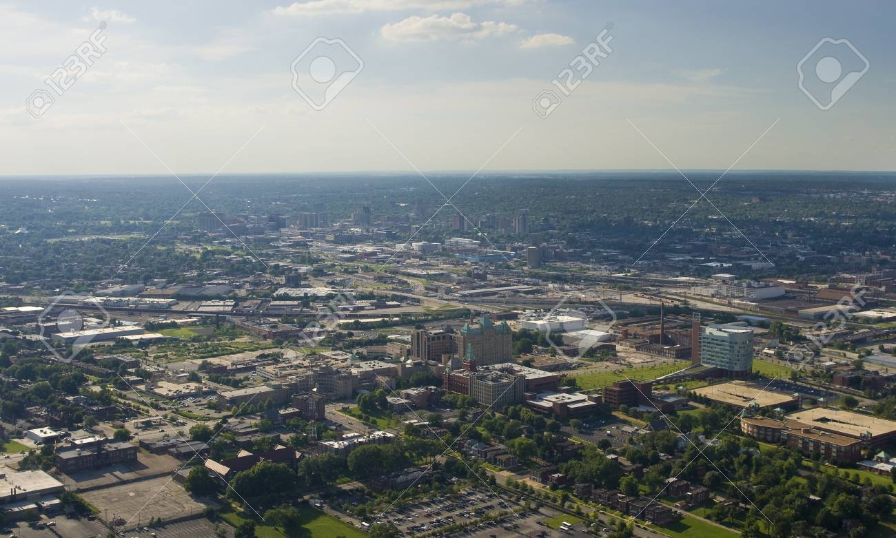 Aerial view of west St  louis city Stock Photo - 15803748