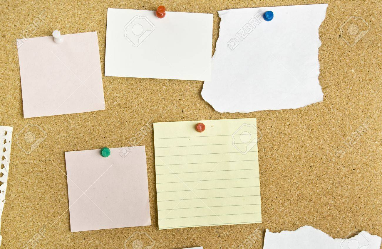 Cork bulletin board with notes Stock Photo - 15768500