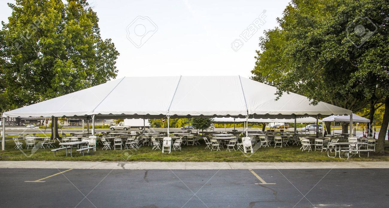 White banquet wedding tent or party tent Stock Photo - 23663426