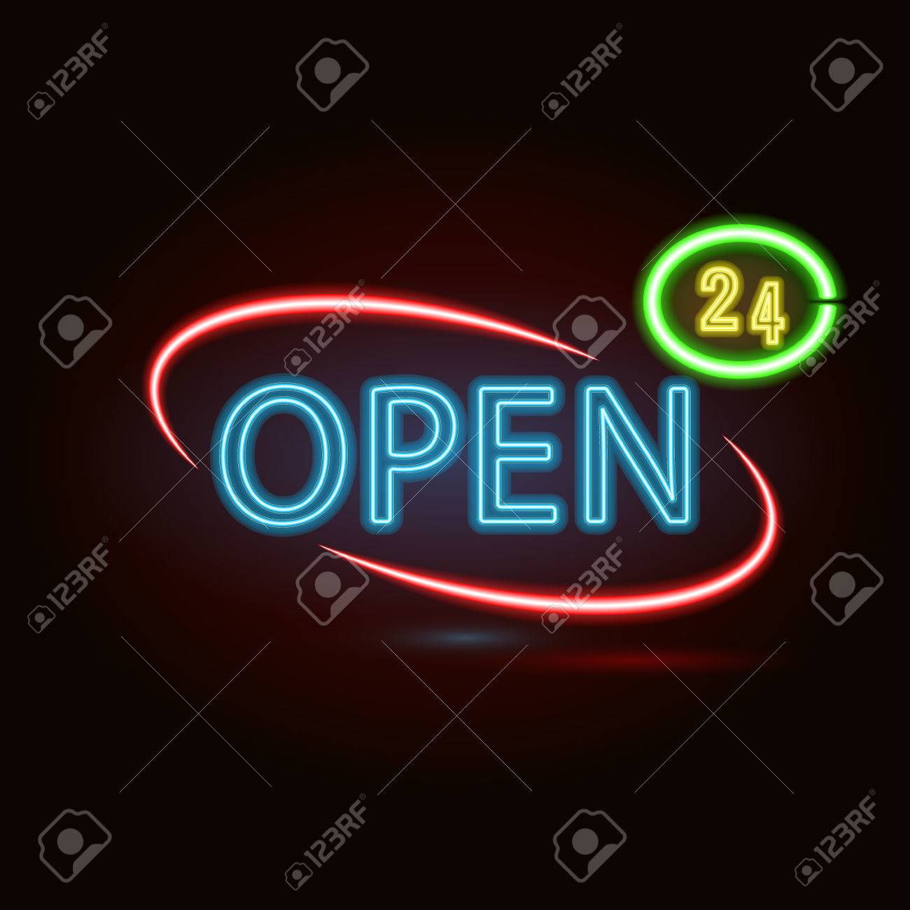 Neon sign with type bar open red and blue and yellow neon neon sign with type bar open red and blue and yellow neon lights stock mozeypictures Gallery