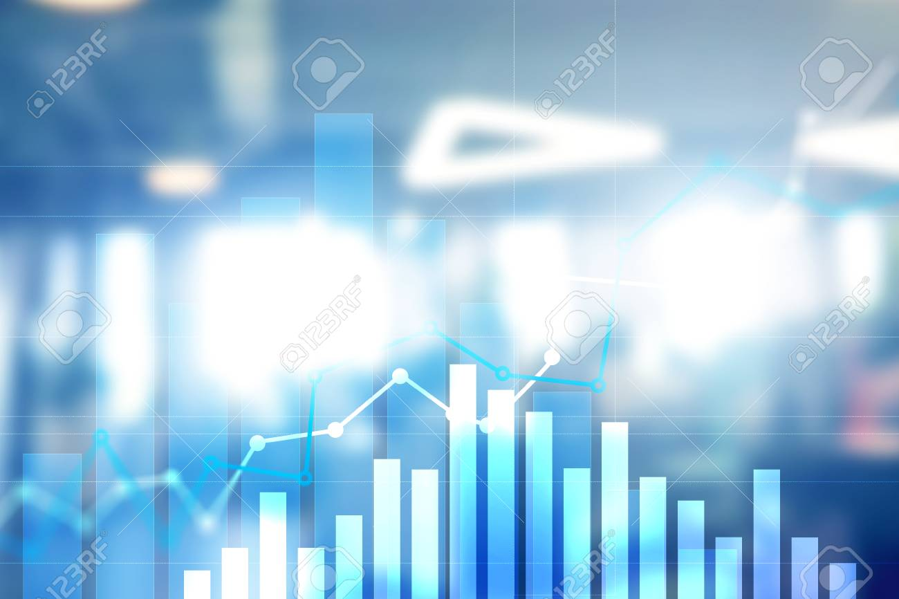 financial growth graph sales increase marketing strategy concept