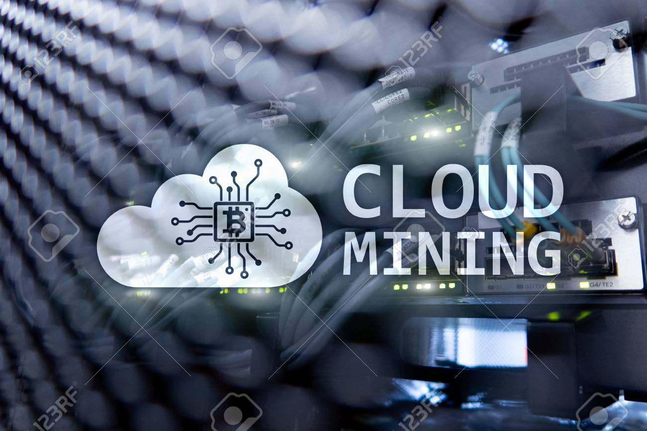 Cloud computing, data or cryptocurrency Bitcoin, Ethereum mining