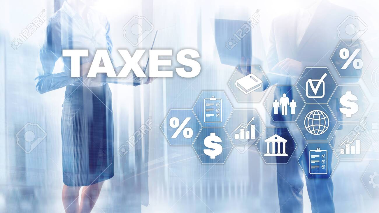 Concept of taxes paid by individuals and corporations such as