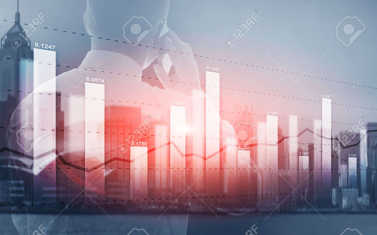 Universal background for a stock market presentation - 169590378