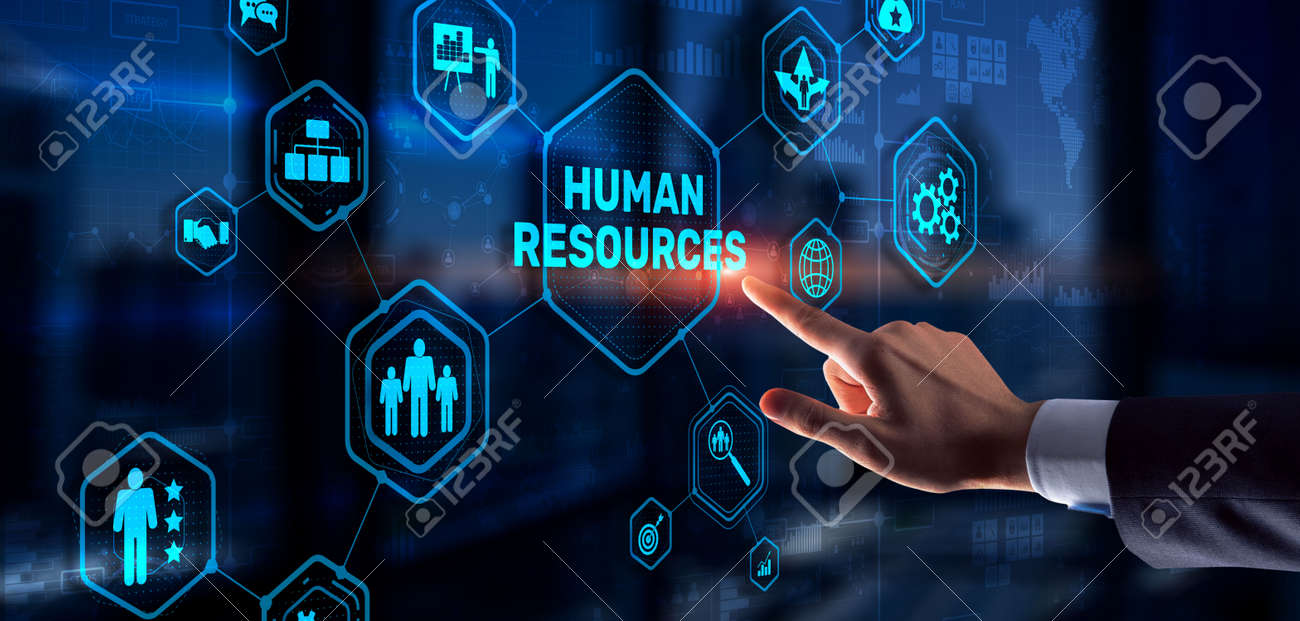 Modern Human Resources Hiring Job Occupation Concept. Business Technology - 169590381