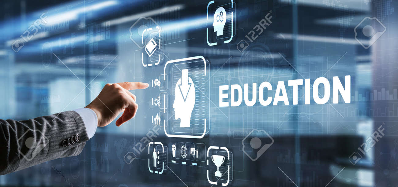 E learning Education Internet Webinar Online courses concept - 169591282