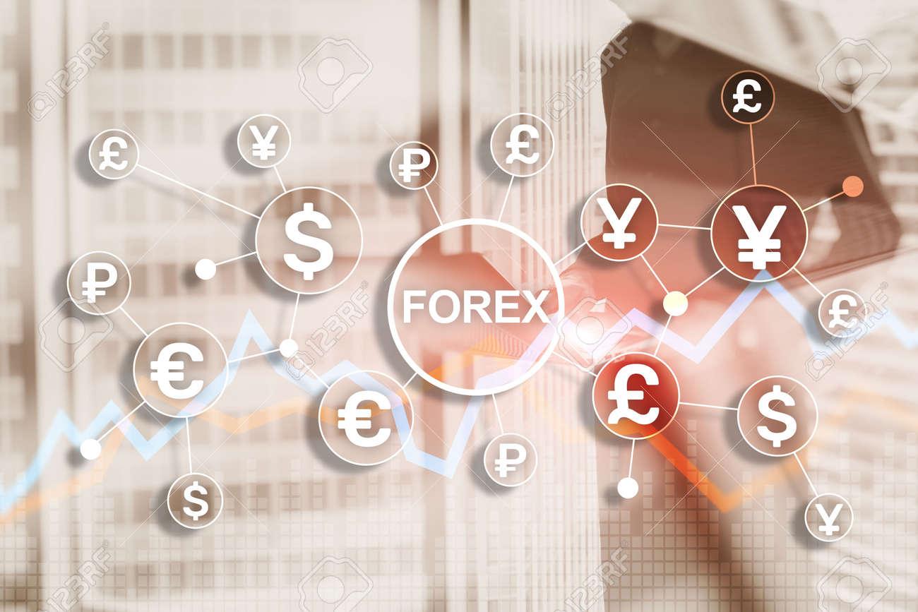 Blue Financial Forex Background. Trading trading stocks bonds - 169591444