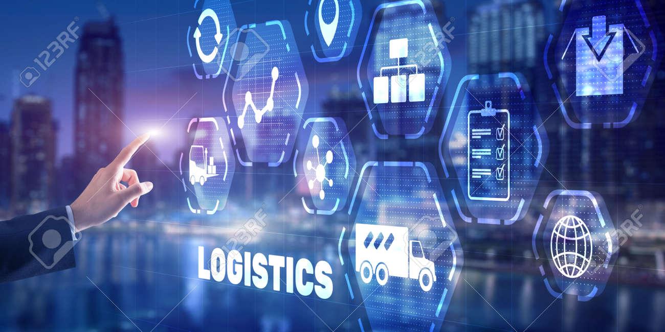 Logistic network distribution concept 2021. Smart technology - 170085655