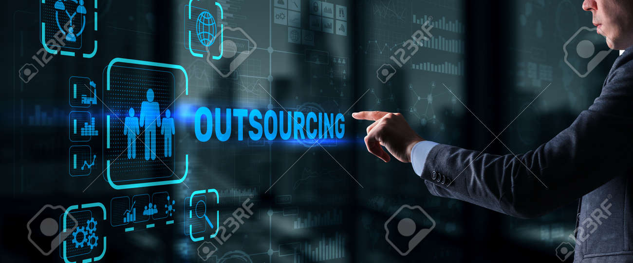 Outsourcing Business Human Resources Internet Finance Technology Concept - 170086152