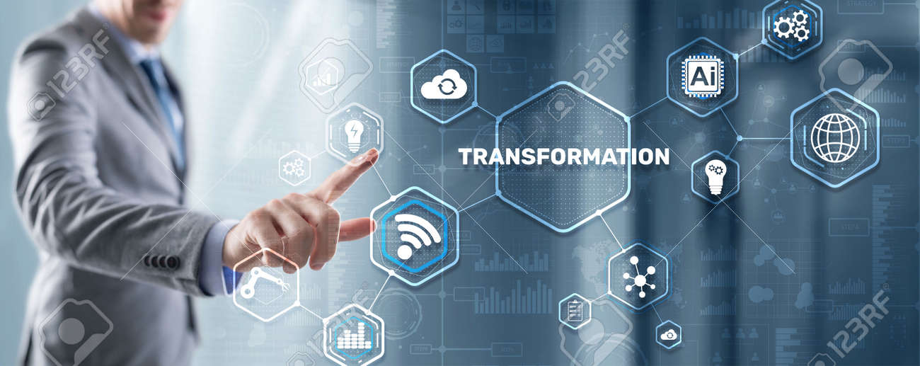 Business Digital Transformation. Future and Innovation Internet and network concept. Technology background - 170086488