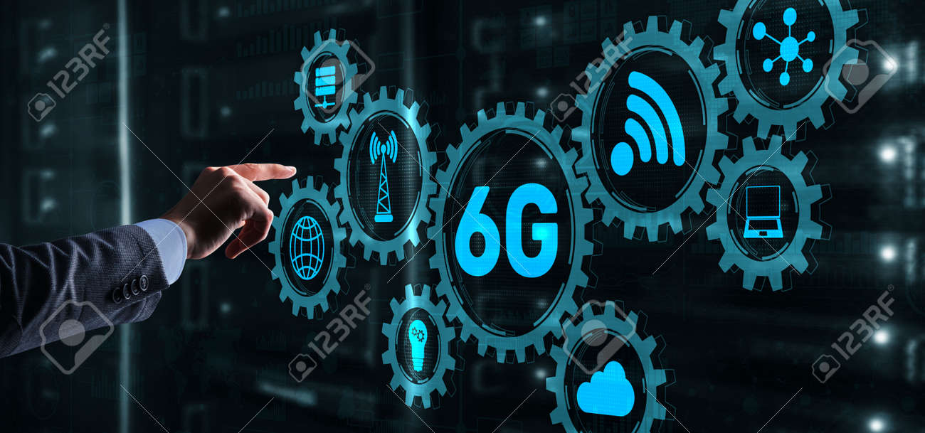 Creative connection 6G Network Internet Mobile Wireless concept 2021 - 170086284