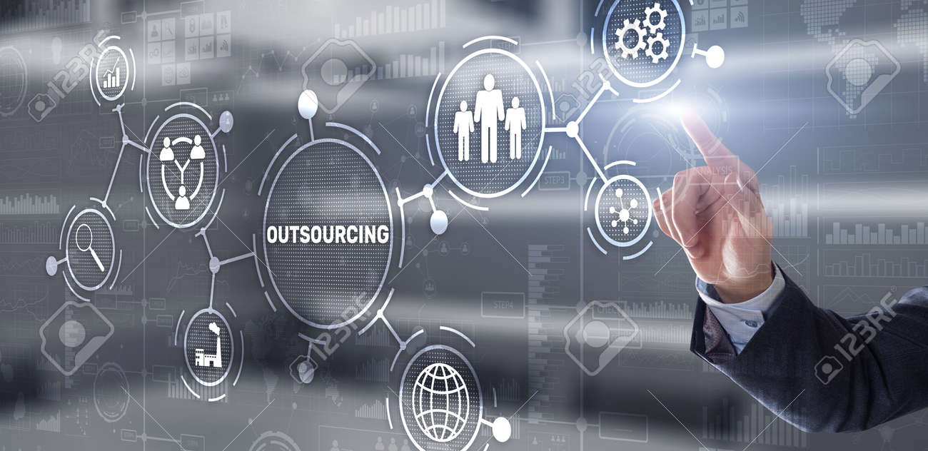 Outsourcing Business Human Resources Internet Finance Technology Concept - 170220161