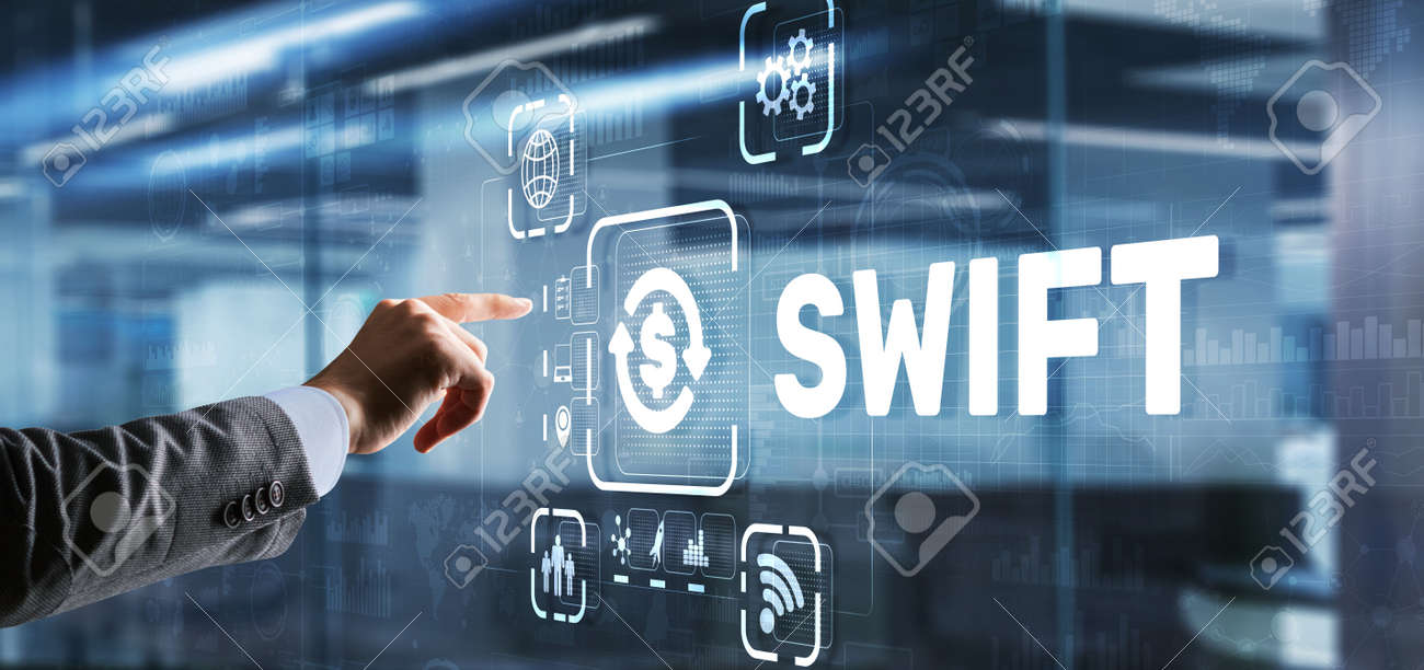 SWIFT. Society for Worldwide Interbank Financial Telecommunications. Financial Banking regulation concept - 170220328