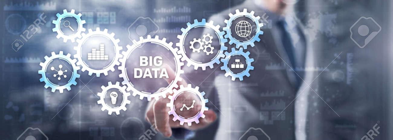 Big data analytics business technology concept. Mixed media - 170220252