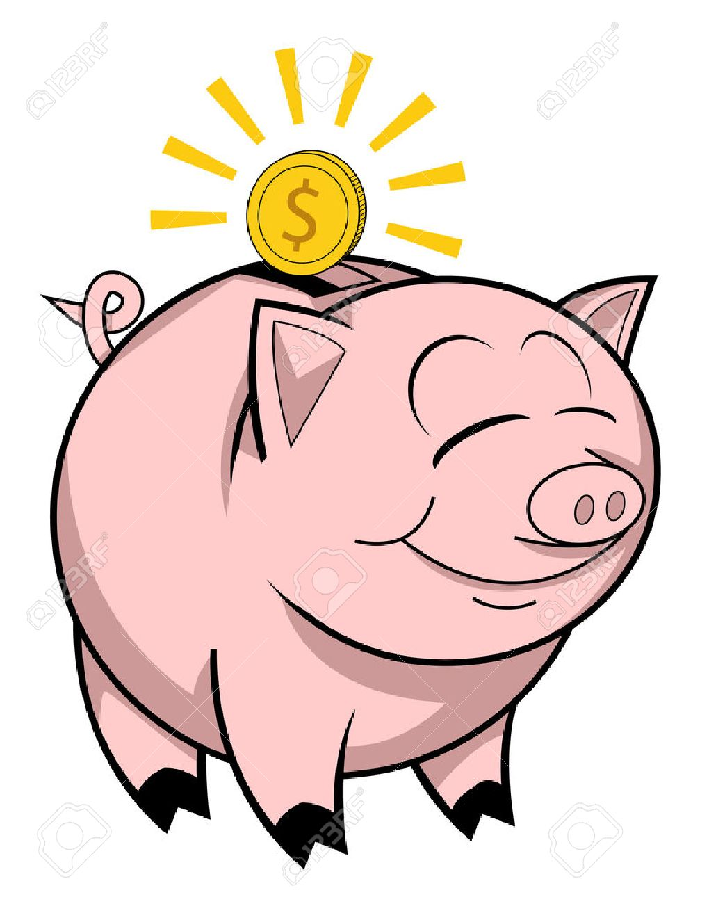 34 411 piggy bank money cliparts stock vector and royalty free