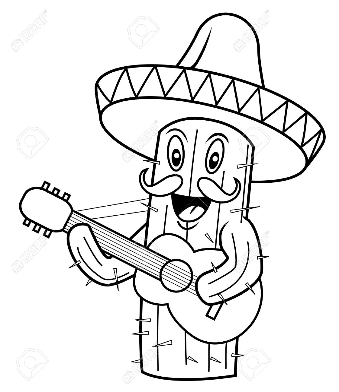 Excelente Hoja Para Colorear De Cactus Inspiración - Dibujos Para ...