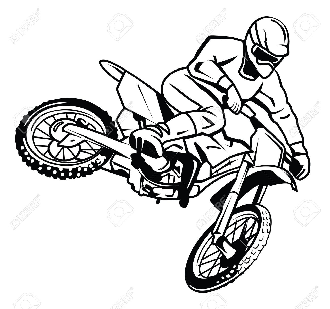motor cross rider royalty free cliparts vectors and stock