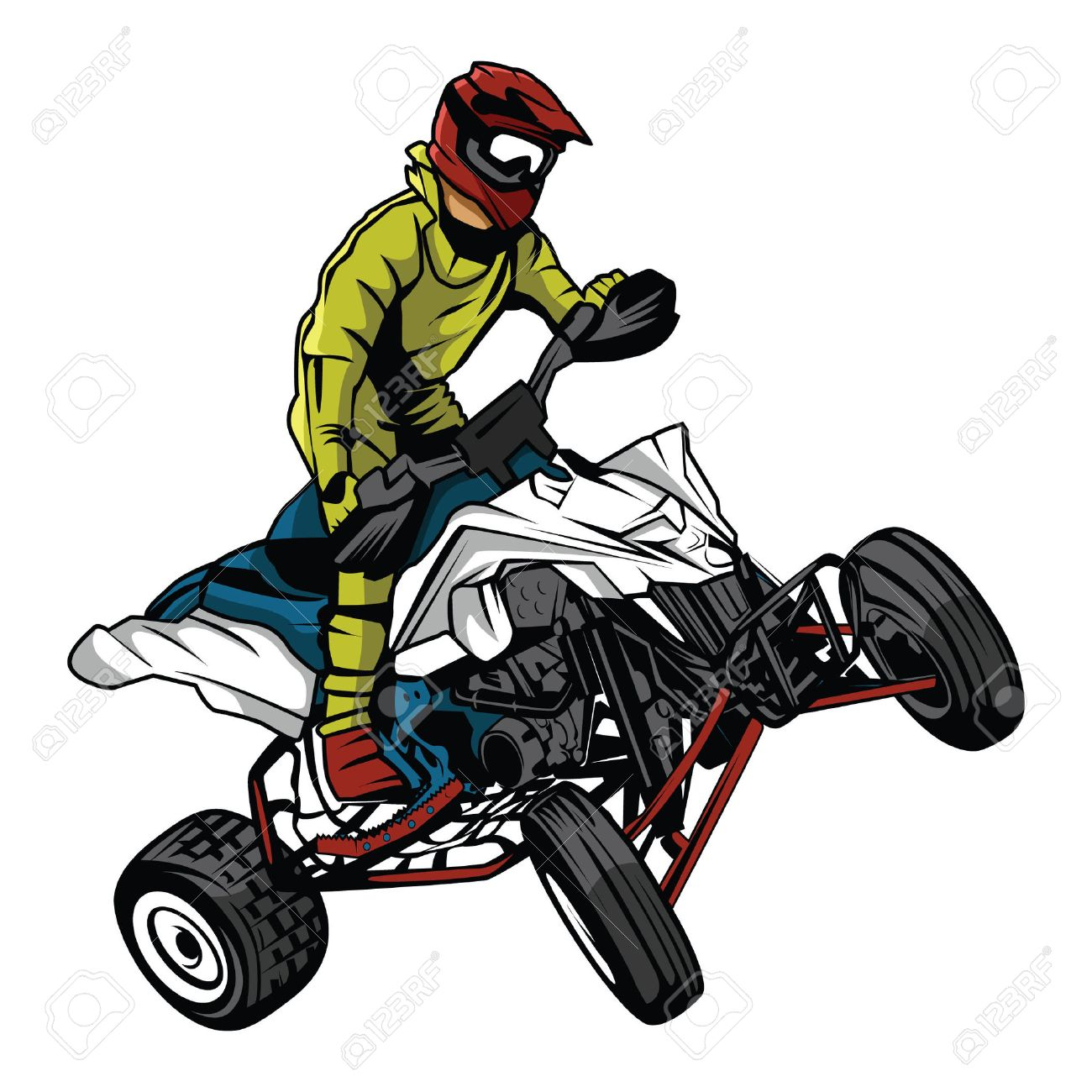 atv moto rider royalty free cliparts vectors and stock rh 123rf com atv cartoon clip art atv clip art free