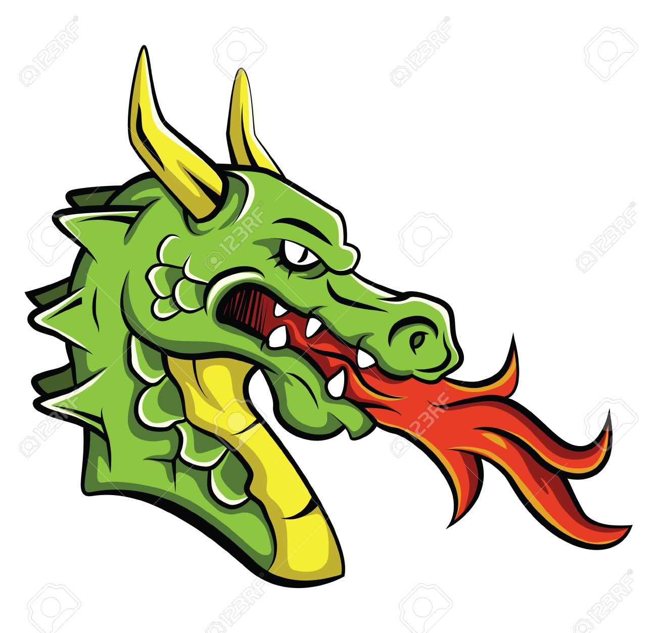 dragon head royalty free cliparts vectors and stock illustration rh 123rf com free clipart of dragon head chinese dragon head clip art