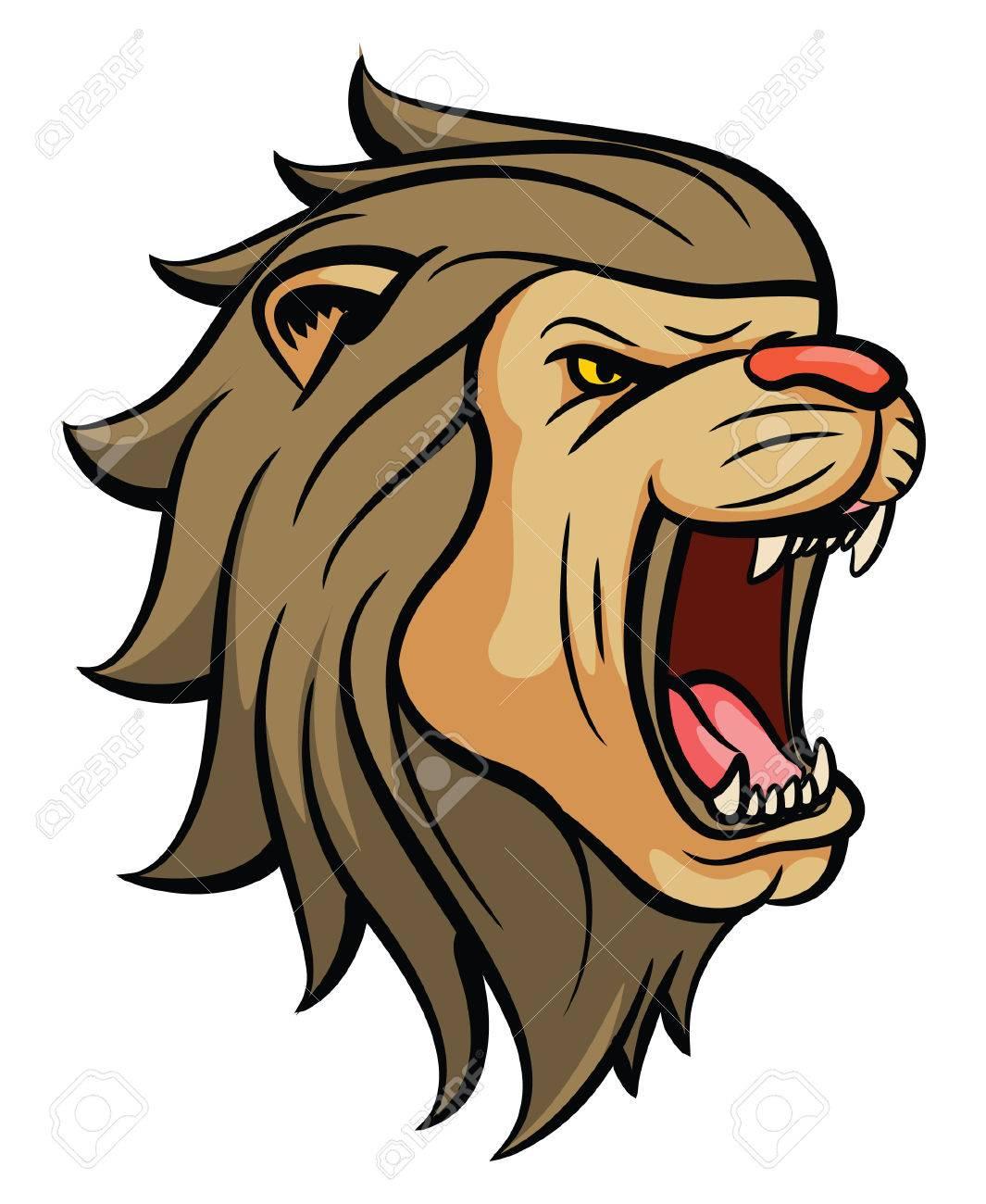 Lion Roar Stock Photos. Royalty Free Lion Roar Images for Lion Face Animation  lp00lyp