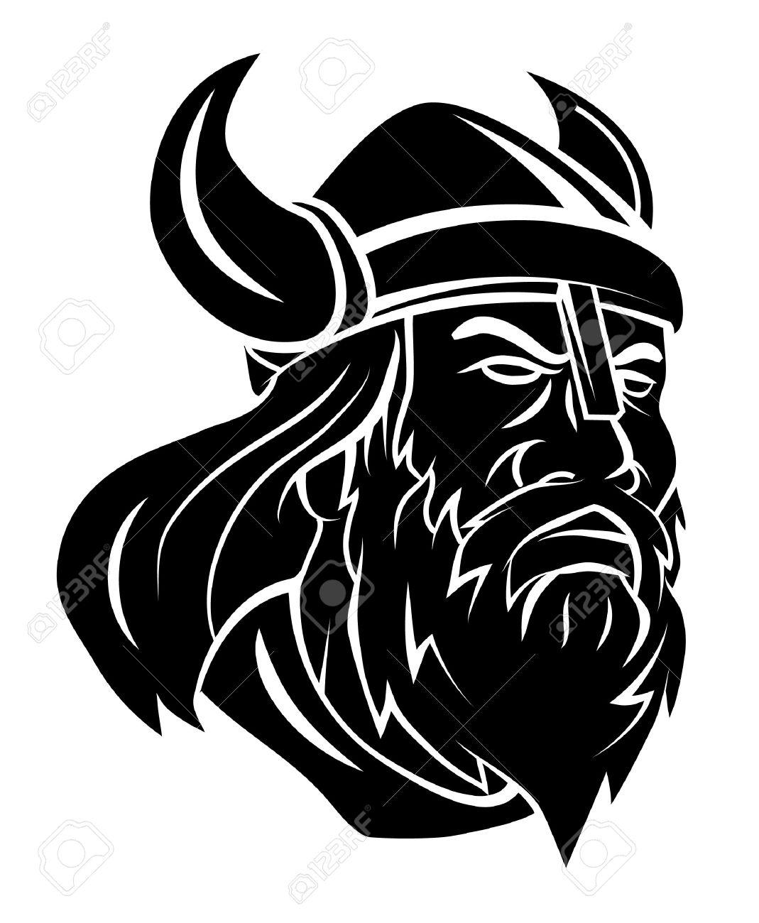 Viking Head Vector Illustration - 34324128