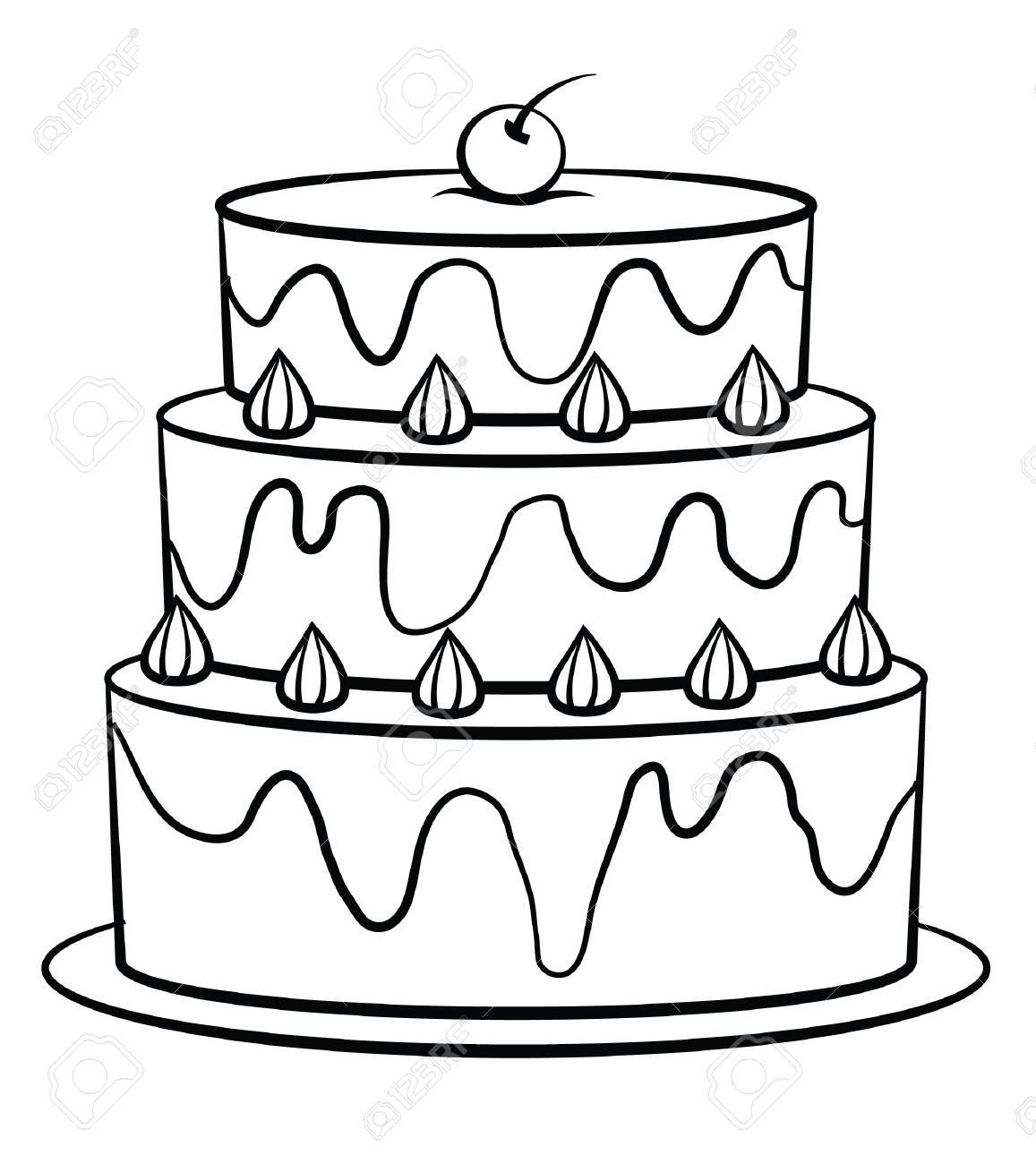 Birthday Cake Royalty Free Cliparts Vectors And Stock Illustration
