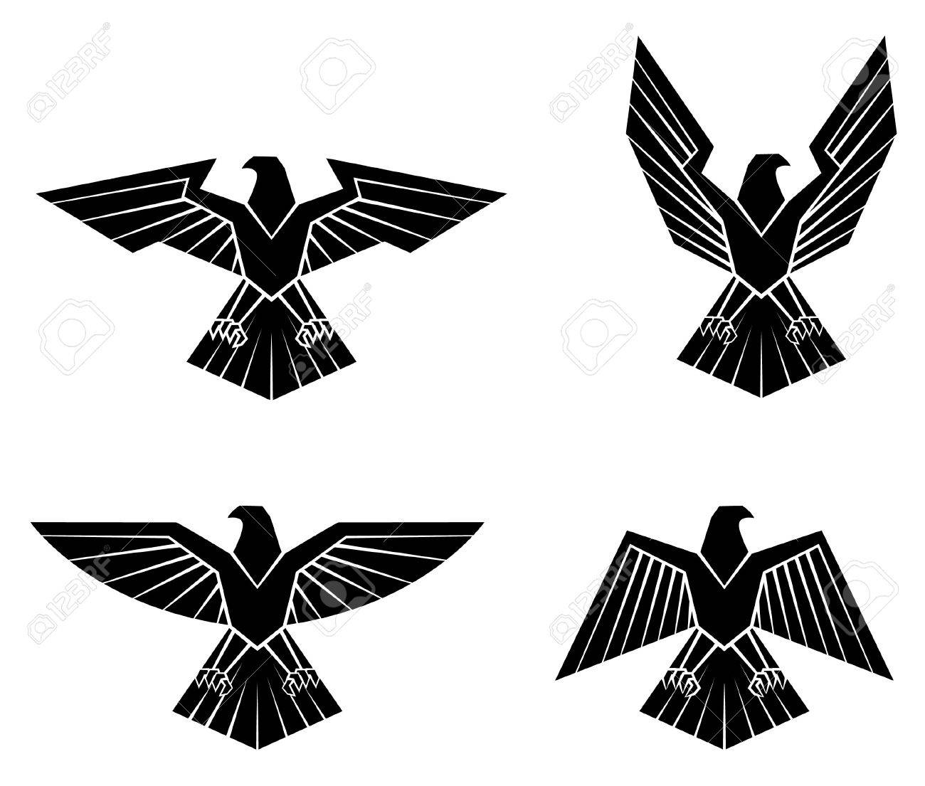 7868 eagle drawing cliparts stock vector and royalty free eagle black silhouette collection of eagle symbol illustration biocorpaavc Gallery
