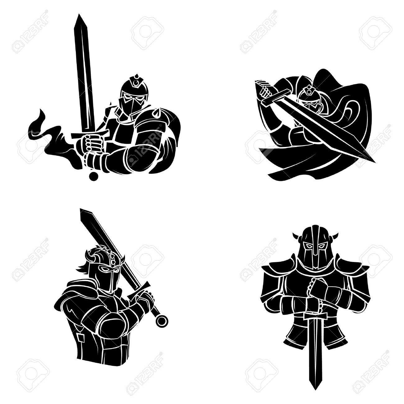 Tattoo Symbol Of Knight Warrior - 36673589