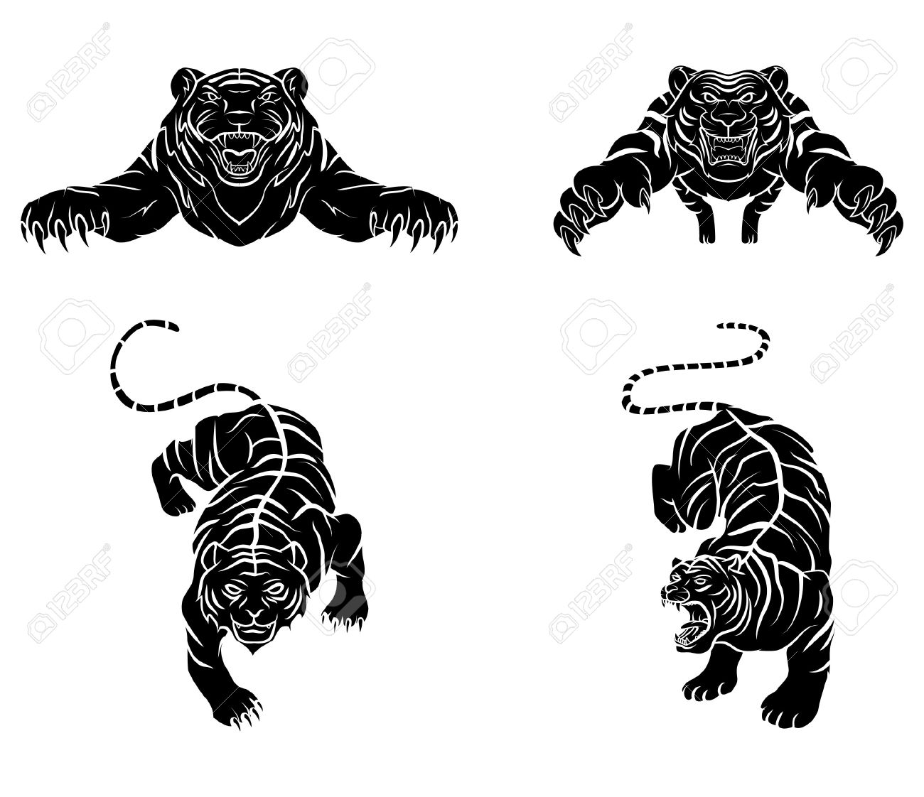 Tattoo symbol of tiger royalty free cliparts vectors and stock tattoo symbol of tiger stock vector 36675006 biocorpaavc