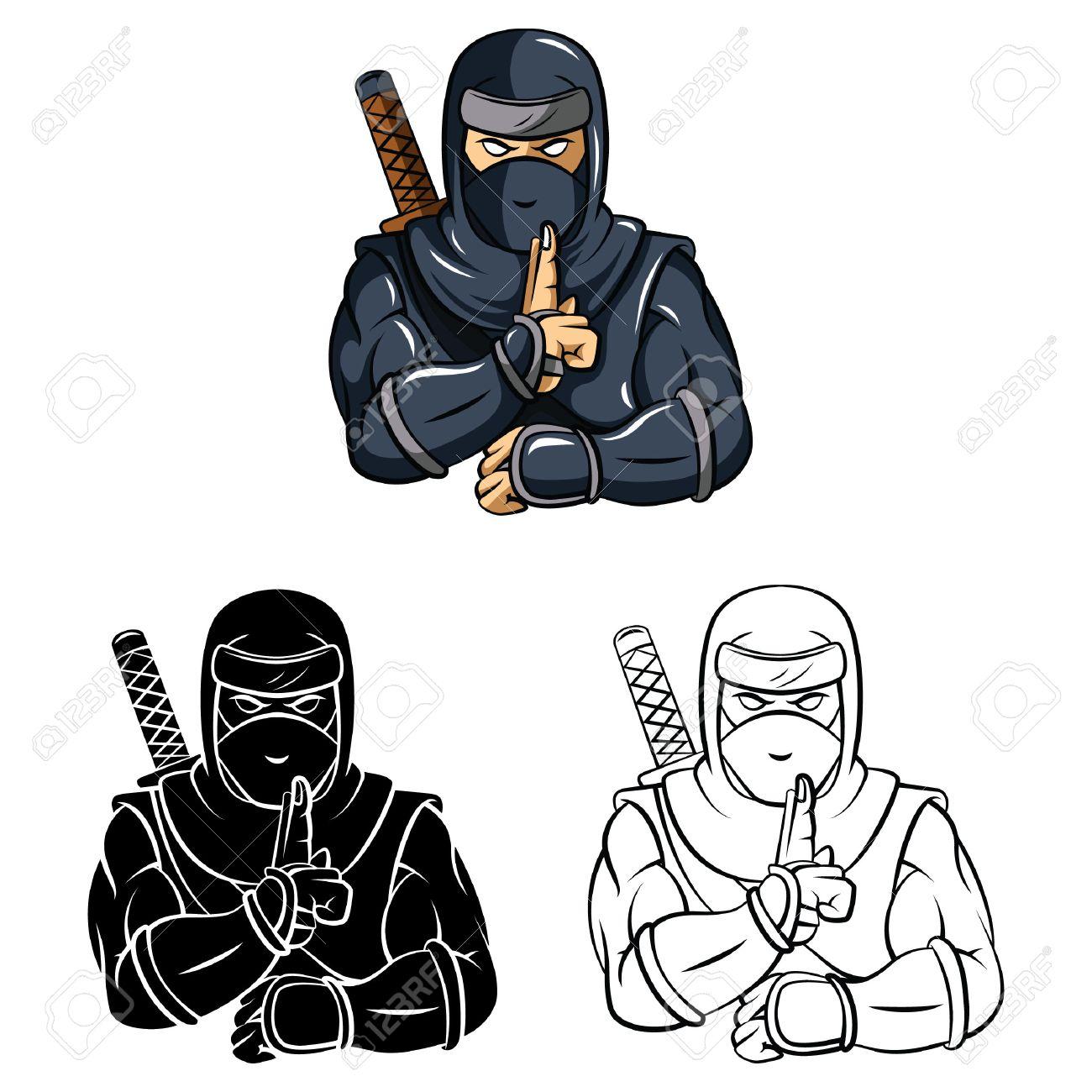 Personnage De Dessin Anime Ninja Livre De Coloriage Clip Art Libres De Droits Vecteurs Et Illustration Image 37586158
