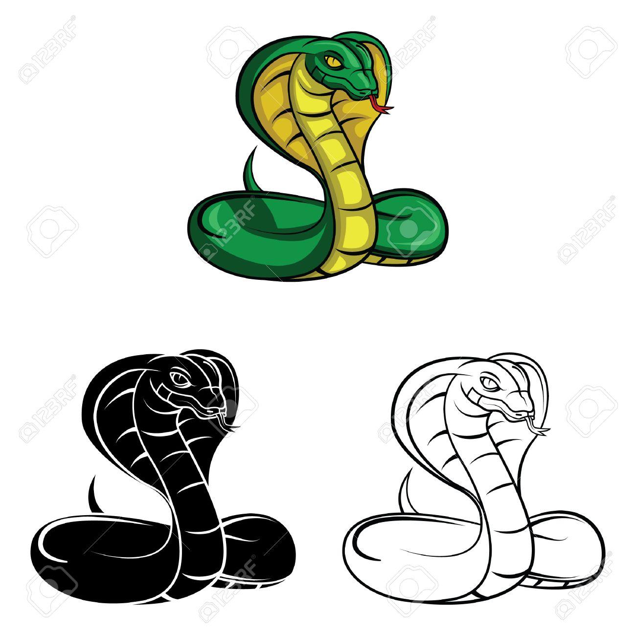 Dessin Cobra personnage de dessin animé livre de cobra coloriage - illustration