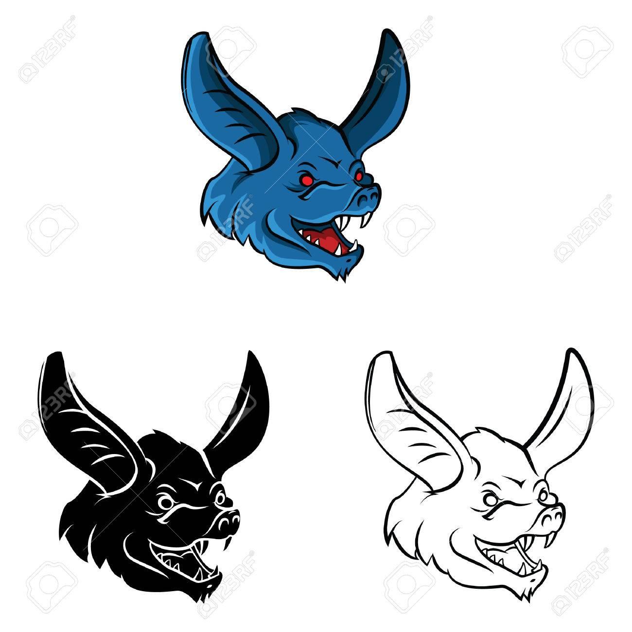 Libro Para Colorear Murciélago Personaje De Dibujos Animados ...