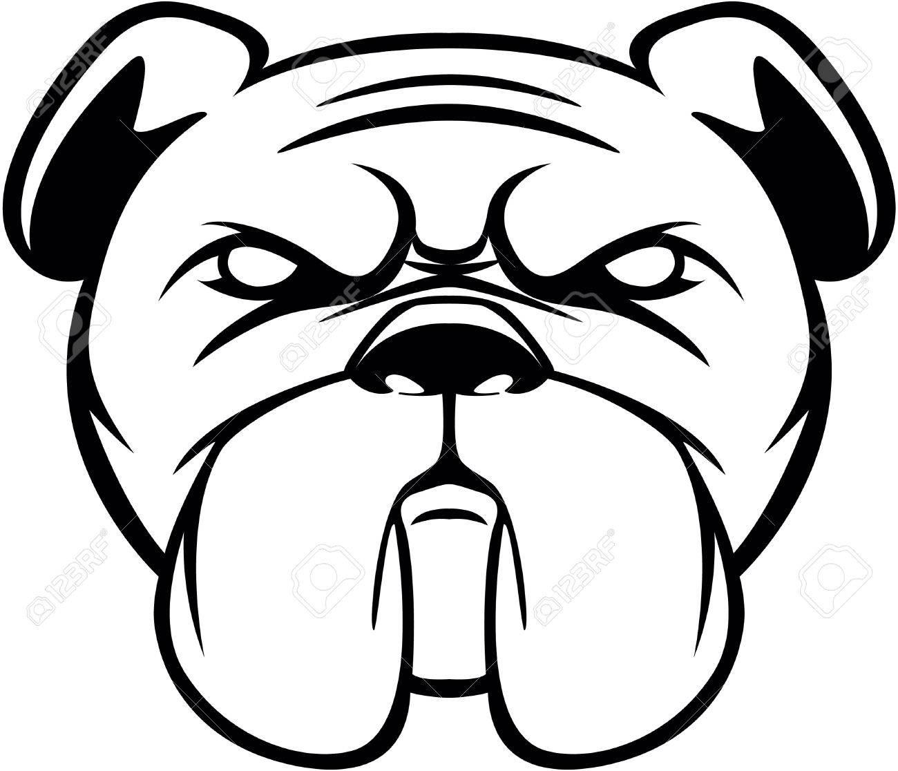Bulldog Head Symbol Illustration Royalty Free Cliparts Vectors And