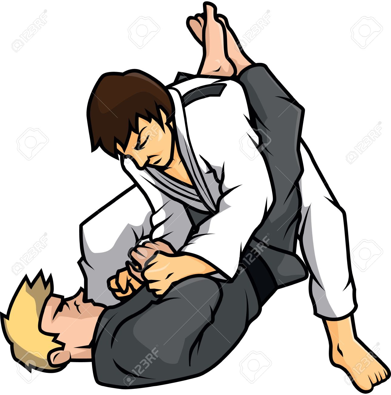 jiu jitsu training illustration design - 48549938