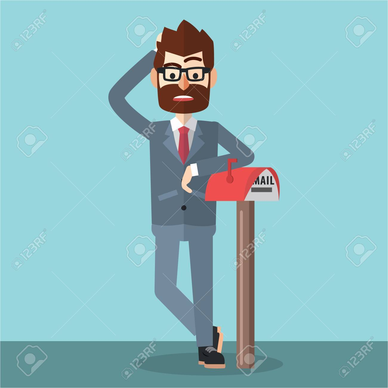Waiting For Mail >> Business Man Waiting For Mail Royalty Free Cliparts Vectors And